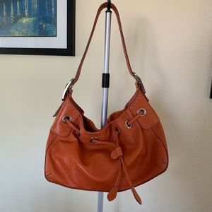 Cole Haan Orange Leather Shoulder Bag